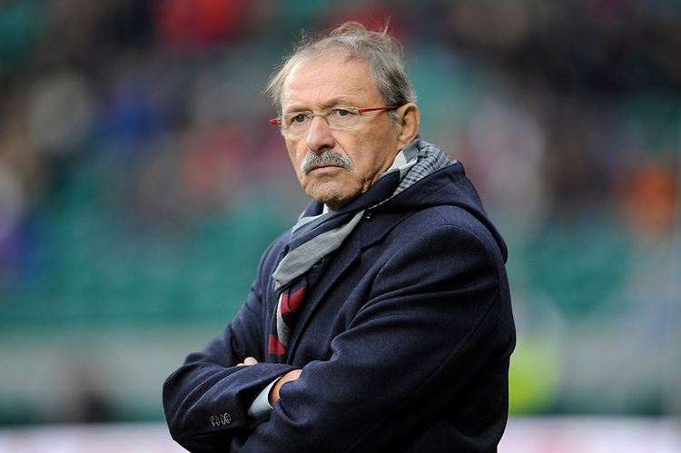 Italy Team Manager Jacques Brunel looks on during the RBS 6 Nations match between England and Italy at Twickenham Stadium on Saturday 14th February 2015 (Photo by Rob Munro)