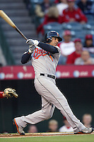 Brian Roberts of the Baltimore Orioles during a game from the 2007 season at Angel Stadium in Anaheim, California. (Larry Goren/Four Seam Images)