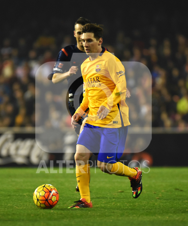 FC Barcelona's Lionel Messi during La Liga match. December 5, 2015. (ALTERPHOTOS/Javier Comos)