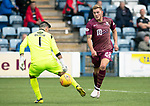 Queen of the South v St Johnstone…18.08.18…  Palmerston    BetFred Cup<br />Callum Hendry beats Alan Martin to make it 4-1<br />Picture by Graeme Hart. <br />Copyright Perthshire Picture Agency<br />Tel: 01738 623350  Mobile: 07990 594431