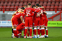 Crawley team huddle during Crawley Town vs Carlisle United, Sky Bet EFL League 2 Football at Broadfield Stadium on 21st November 2020
