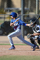Los Angeles Dodgers shortstop Moises Perez (57) during an Instructional League game against the Chicago White Sox on October 8, 2013 at Camelback Ranch Complex in Glendale, Arizona.  (Mike Janes/Four Seam Images)