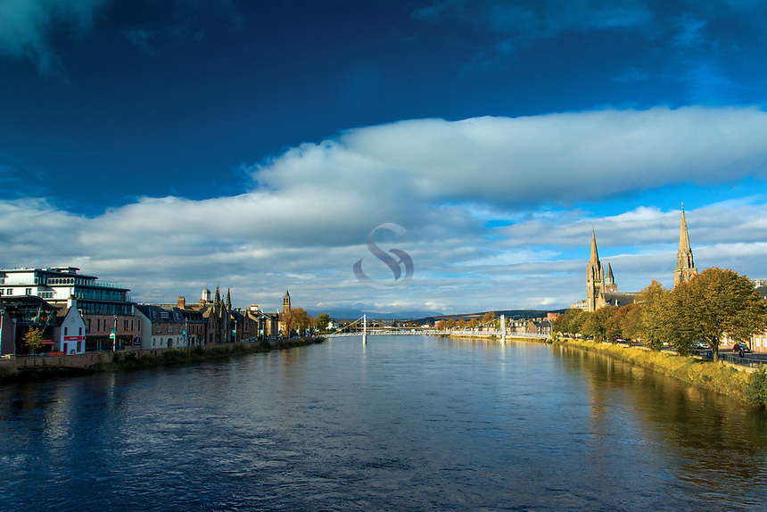 Inverness and the River Ness, Highland