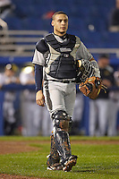 Pittsburgh Panthers catcher Elvin Soto #7 during a game against the Michigan Wolverines at the Big Ten/Big East Challenge at Florida Auto Exchange Stadium on February 17, 2012 in Dunedin, Florida.  (Mike Janes/Four Seam Images)