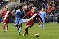 Chester, PA - Friday December 08, 2017: Griffin Dorsey The Indiana Hoosiers defeated the North Carolina Tar Heels 1-0 during an NCAA Men's College Cup semifinal soccer match at Talen Energy Stadium.