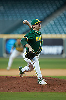 Baylor Bears relief pitcher Ryan Leckich (10) in action against the LSU Tigers in game five of the 2020 Shriners Hospitals for Children College Classic at Minute Maid Park on February 28, 2020 in Houston, Texas. The Bears defeated the Tigers 6-4. (Brian Westerholt/Four Seam Images)