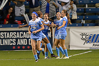 Chicago, IL - Saturday Sept. 24, 2016: Sofia Huerta goal celebration during a regular season National Women's Soccer League (NWSL) match between the Chicago Red Stars and the Washington Spirit at Toyota Park.