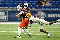 SAN ANTONIO, TX - NOVEMBER 14, 2020: The University of Texas at San Antonio Roadrunners defeat the University of Texas at El Paso Miners 52-21 at the Alamodome (Photo by Jeff Huehn).