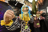 Scary characters await customers on Tuesday Oct. 13 2020 at Halloween Express inside Frisco Station Mall in Rogers.<br />