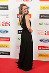 Swimmer Mireia Belmonte poses during AS Sport Female Awards ceremony in Madrid, Spain. December 15, 2014. (ALTERPHOTOS/Victor Blanco)