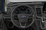Car pictures of steering wheel view of a 2020 Ford Transit-Custom Nugget 4 Door Camper Van Steering Wheel