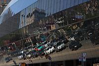 Toronto (ON) CANADA - July 2012 - Reflection on the Art Gallery of Ontario on Dundas street.