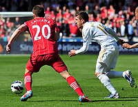 sport...swansea v southampton...liberty stadium...saturday 20th april 2013....<br /> <br /> <br /> Swansea's Pablo Hernandez on the ball.