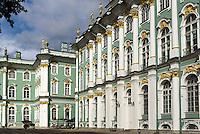 Winterpalast Eremitage in St. Petersburg, Russland, UNESCO-Weltkulturerbe