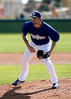 Travis Schlichting - Los Angeles Dodgers - 2009 spring training.Photo by:  Bill Mitchell/Four Seam Images