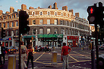London, England, architecture and street scene in the Greenwich district near dusk, Great Britain, United Kingdom, Europe,
