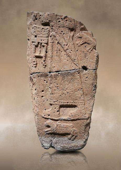 Hittite monumental relief sculpture fragment. Late Hittite Period - 900-700 BC. Adana Archaeology Museum, Turkey.