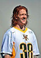 17 March 2012: University of Vermont Catamount Midfielder Jordan Tripp, a Sophomore from Aurora, Ontario, smiles before the start of play against the Sacred Heart University Pioneers at Virtue Field in Burlington, Vermont. The Catamounts defeated the visiting Pioneers 12-11 with only 10 seconds remaining in their non-conference matchup. Mandatory Credit: Ed Wolfstein Photo