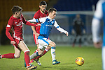 St Johnstone v Aberdeen…13.12.17…  McDiarmid Park…  SPFL<br />Stefan Scougall gets between Ryan Christie and Anthony O'Connor<br />Picture by Graeme Hart. <br />Copyright Perthshire Picture Agency<br />Tel: 01738 623350  Mobile: 07990 594431