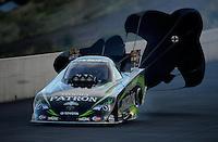 Jul, 20, 2012; Morrison, CO, USA: NHRA funny car driver Alexis DeJoria during qualifying for the Mile High Nationals at Bandimere Speedway. Mandatory Credit: Mark J. Rebilas-