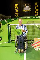 14-02-13, Tennis, Rotterdam, ABNAMROWTT, Robin Ammerlaan afscheid