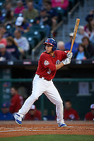 Buffalo Bisons third baseman Ty Kelly (3) at bat during a game against the Pawtucket Red Sox  on August 28, 2015 at Coca-Cola Field in Buffalo, New York.  Pawtucket defeated Buffalo 7-6.  (Mike Janes/Four Seam Images)