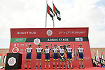 Intermarche-Wanty-Gobert Materiaux at sign on before the start of Stage 1 of the 2021 UAE Tour the ADNOC Stage running 176km from Al Dhafra Castle to Al Mirfa, Abu Dhabi, UAE. 21st February 2021.  <br /> Picture: LaPresse/Fabio Ferrari | Cyclefile<br /> <br /> All photos usage must carry mandatory copyright credit (© Cyclefile | LaPresse/Fabio Ferrari)