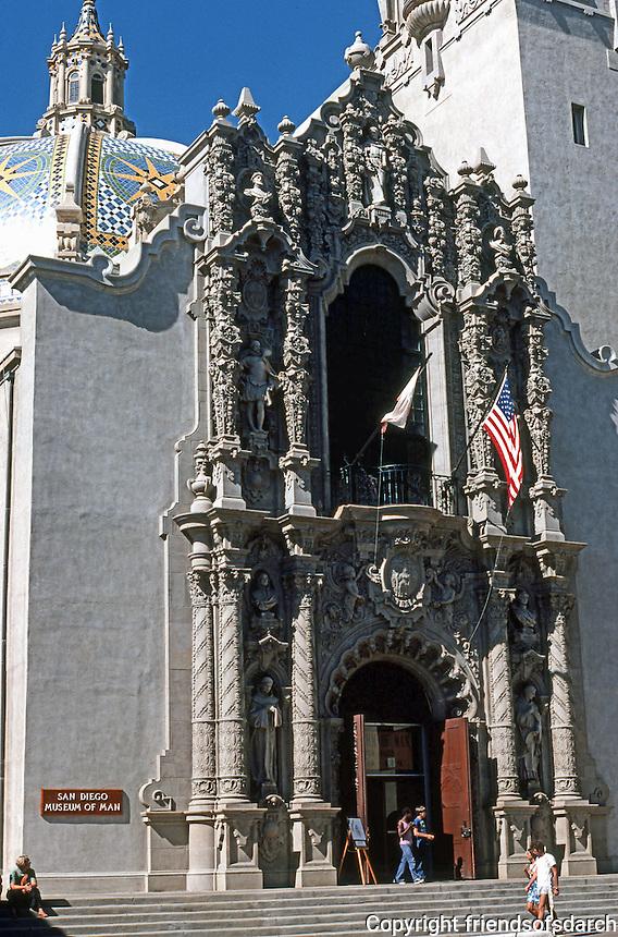San Diego: Balboa Park--Museum of Man. Bertram Goodhue, Architect.  Photo '78.