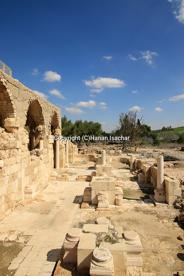 Israel, Shephelah, the Church at the Crusader fortress in Beth Guvrin