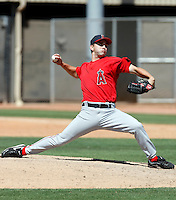Tyler Chatwood - Los Angeles Angels - 2009 spring training.Photo by:  Bill Mitchell/Four Seam Images