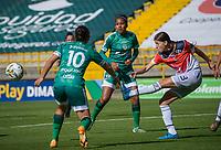 BOGOTÁ COLOMBIA, 31-07-2021: La Equidad y Fortaleza CEIF en partido por la fecha 5 como parte de la Liga Femenina BetPlay DIMAYOR 2021 jugado en el estadio Metropolitano de Techo de Bogotá / Equidad and Fortaleza CEIF in match for the date 5 as part of Women's BetPlay DIMAYOR 2021 League, played at Metropolitano de Techo stadium in Bogota. Photo: VizzorImage / Samuel Norato / Cont