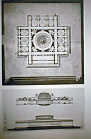 Architect Charles Percier won the 1786 Prix de Rome for a Meeting House for all the Academies.