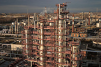 Ryazan, Russia, 03/11/2004..The TNK-BP Ryazan oil refinery..Upgraded section of the refinery complex.