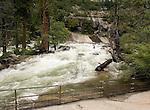 Merced River at the top of  Vernal Falls, Yosemite - 2011