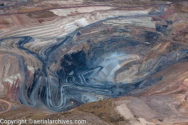 aerial photograph of the Gold Quarry open pit mine near Carlin, Nevada