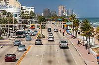 Ft. Lauderdale, Florida.  Atlantic Blvd., Florida State Highway A1A.