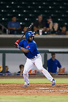 AZL Cubs shortstop Delvin Zinn (21) at bat against the AZL Giants on September 6, 2017 at Sloan Park in Mesa, Arizona. AZL Giants defeated the AZL Cubs 6-5 to even up the Arizona League Championship Series at one game a piece. (Zachary Lucy/Four Seam Images)