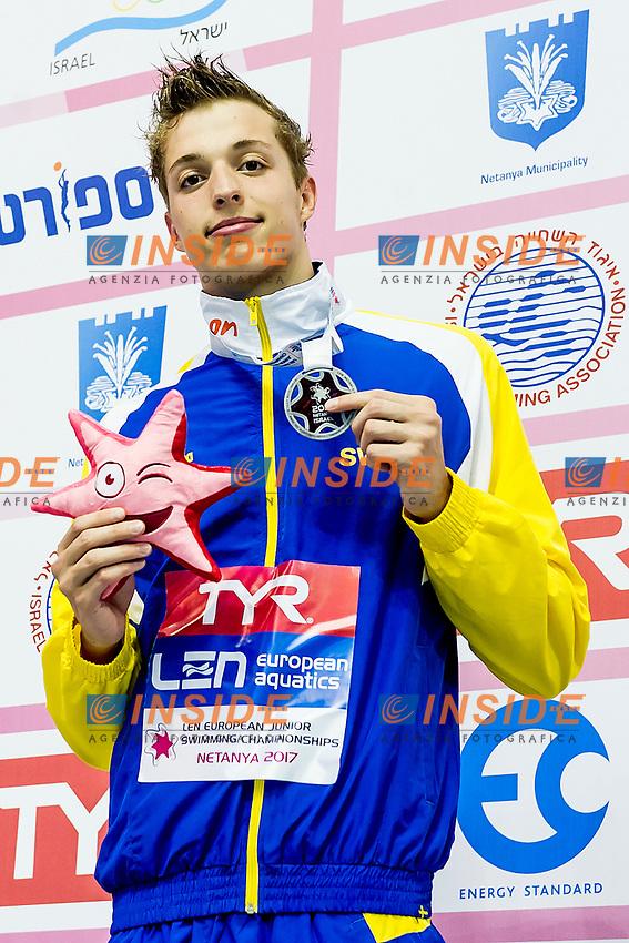 SEELIGER Bjoern SWE<br /> 50m Freestyle Men Final Silver Medal<br /> LEN 44th European Junior Swimming Championships<br /> Netanya, Israel <br /> Day05 02-07-2017<br /> Photo Andrea Masini/Deepbluemedia/Insidefoto