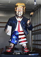 Mexican-Made Gold Trump Statue Draws Crowd at CPAC