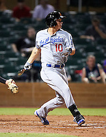 Mesa Solar Sox outfielder Joc Pederson #10, of the Los Angeles Dodgers organization, during an Arizona Fall League game against the Salt River Rafters at Salt River Fields at Talking Stick on October 9, 2012 in Scottsdale, Arizona.  Salt River defeated Mesa 6-5.  (Mike Janes/Four Seam Images)