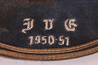 BNPS.co.uk (01202 558833)<br /> Pic: LacyScott&Knight/BNPS<br /> <br /> Pictured: Sir Alf Ramsey's cap.<br /> <br /> An international cap awarded to England World Cup legend Sir Alf Ramsey that was later acquired by the family's painter and decorator is tipped to sell fo £3,000.<br /> <br /> The extraordinary piece of sporting memorabilia days back to Sir Alf's playing days and he was given it for the England v Yugoslavia friendly in 1950.<br /> <br /> The footballing giant played for 32 times for England primarily as a right back and went on to manage his country when they won the 1966 World Cup.