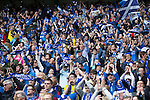 St Johnstone v Dundee United....17.05.14   William Hill Scottish Cup Final<br /> St Johnstone fans cheer on their team<br /> Picture by Graeme Hart.<br /> Copyright Perthshire Picture Agency<br /> Tel: 01738 623350  Mobile: 07990 594431