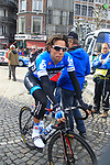 Thomas Dekker (NED) Garmin-Barracuda at sign on before the start of the 98th edition of Liege-Bastogne-Liege outside the Palais des Princes-Eveques, running 257.5km from Liege to Ans, Belgium. 22nd April 2012.  <br /> (Photo by Eoin Clarke/NEWSFILE).