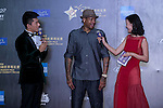 Allen Iverson (hat), on the Red Carpet event at the World Celebrity Pro-Am 2016 Mission Hills China Golf Tournament on 20 October 2016, in Haikou, China. Photo by Marcio Machado / Power Sport Images