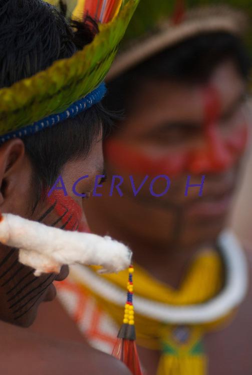 Kaiapó..<br /> <br /> Os Jogos dos Povos Indígenas (JPI) chegam a sua décima edição. Neste ano 2009, que acontecem entre os dias 31 de outubro e 07 de novembro. A data escolhida obedece ao calendário lunar indígena. com participação  cerca de 1300 indígenas, de aproximadamente 35 etnias, vindas de todas as regiões brasileiras. <br /> Paragominas , Pará, Brasil.<br /> Foto Paulo Santos<br /> 04/11/2009