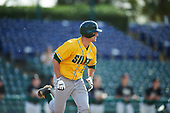 Siena Saints center fielder Dan Swain (22) during a game against the Pittsburgh Panthers on February 24, 2017 at Historic Dodgertown in Vero Beach, Florida.  Pittsburgh defeated Siena 8-2.  (Mike Janes/Four Seam Images)