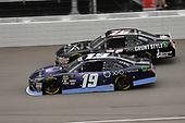 #19: Brandon Jones, Joe Gibbs Racing, Toyota Camry Toyota XYO Networks and #76: Spencer Boyd, SS Green Light Racing, Chevrolet Camaro Grunt Style
