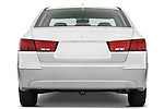 Straight rear view of a 2010 Hyundai Sonata GLS