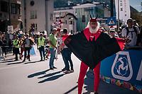 Didi 'Der Teufel' at the start<br /> <br /> MEN JUNIOR ROAD RACE<br /> Kufstein to Innsbruck: 132.4 km<br /> <br /> UCI 2018 Road World Championships<br /> Innsbruck - Tirol / Austria