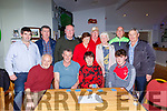 Competing in the Card nigh in aid if the Onocoligy Unit in UHK on Sunday were front row l-r: Con Lynch, Pat Talbot, Kathleen Ryan, Padraic Talbot. Back row: Michael O'Leary Neilus McCarthy, Paddy Lynch, Marie Keane, Tom O'Sullivan, Mary Moynihan, Gearoid Moynihan and Tim Ryan